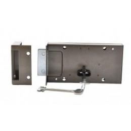 A garage lock with 2 keys,...