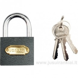 Lock 63mm. mounted brass...