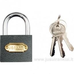 Lock 50mm. mounted brass...