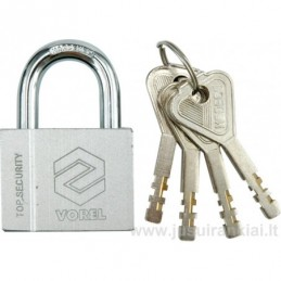 Lock 40mm. mounted brass...
