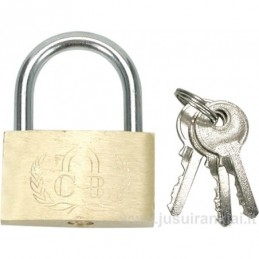 Lock 40mm. mounted brass CB...