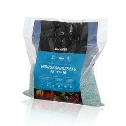 Universalios bechlorės trąšos Hidrokompleksas 12-11-18, maišelis 4,5kg.