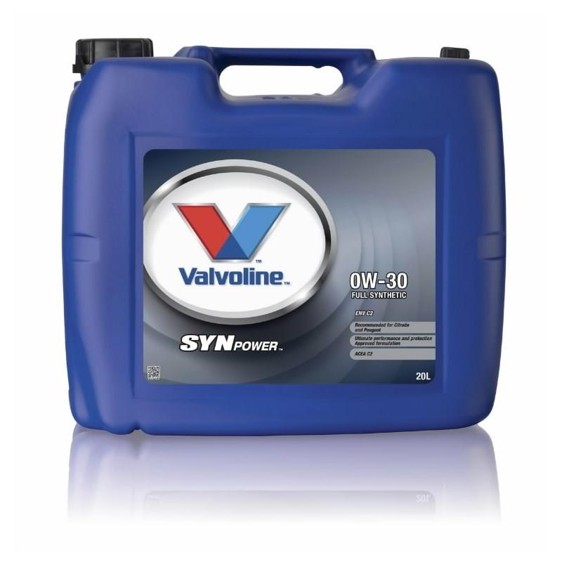 Alyva varikliui SYNPOWER ENV C2 0W30 20L, Valvoline