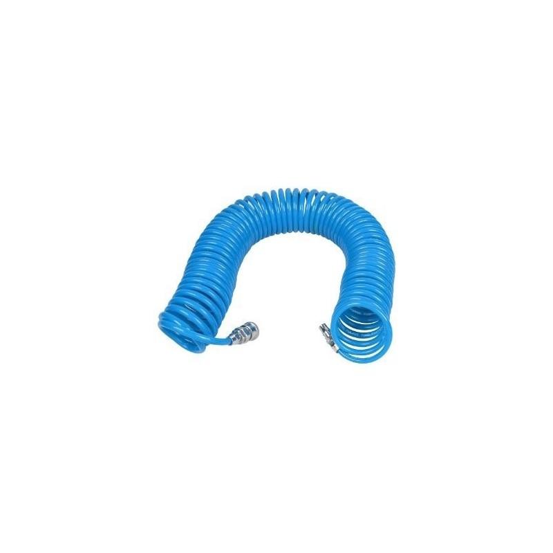 Žarna spiralinė PU su vožtuvais Ø5x8mm, 10m.