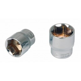 Šešiakampė galvutė 1/4´´ 8mm CHROME+, KS tools