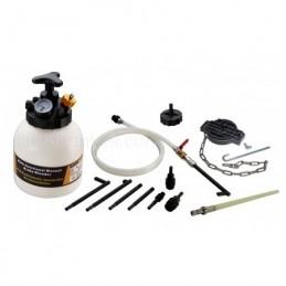 Stabdžių sistemos nuorinimo ir užpildymo įrenginys su ATF adapterių rinkinių