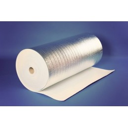 Metalizuota 5mm. pusta polietileno plėvelė 60m2, 50mx1,2m.