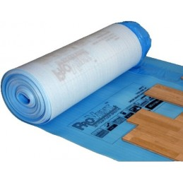 Paklotas 2,3mm. 1,2x100m. su hidroizoliacine plėvele, tinka šildomoms grindims PROVENT