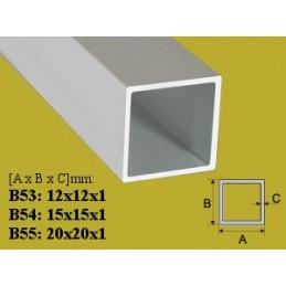 Profilis 20x20mm. L-200cm. aliuminis, vamzdis kvadratinis EFFECTOR B55