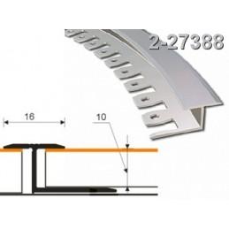 Profilis 16x10mm. 2,5m. lankstomas, aliuminis-alksnis ZICZAC 2-27388