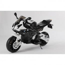 Vaikiškas juodas motociklas su šoniniais ratukais WDLQ998