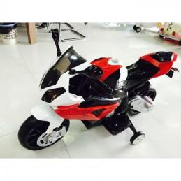 Vaikiškas motociklas akumuliatorinis raudonas BMW S1000RR