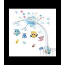 Naktinė lempa ir lovelės varpeliai kūdikiams mėlyna OC126