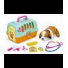 Žaislinis šunų narvas su veterinariniais įrankiais T20070