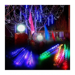 LED girlianda meteorų lietus (50cm), ilgis 3m., įvairiaspalvė