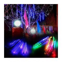 LED girlianda meteorų lietus (50cm), ilgis 5m., mėlyna šviesa