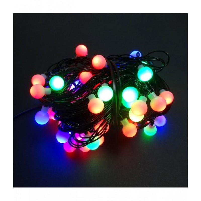 200 LED Kalėdinė girlianda burbuliukai, ilgis 17m., įvairiaspalvė