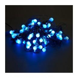 100 LED Kalėdinė girlianda burbuliukai, ilgis 11m., mėlyna