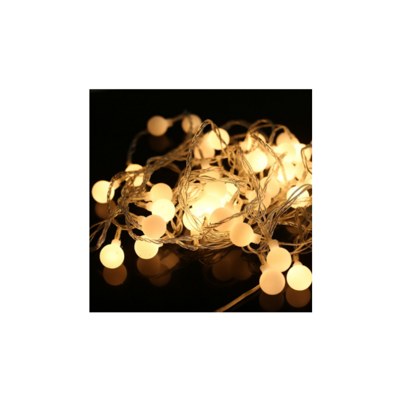 100 LED Kalėdinė girlianda burbuliukai, ilgis 11m., šilta šviesa