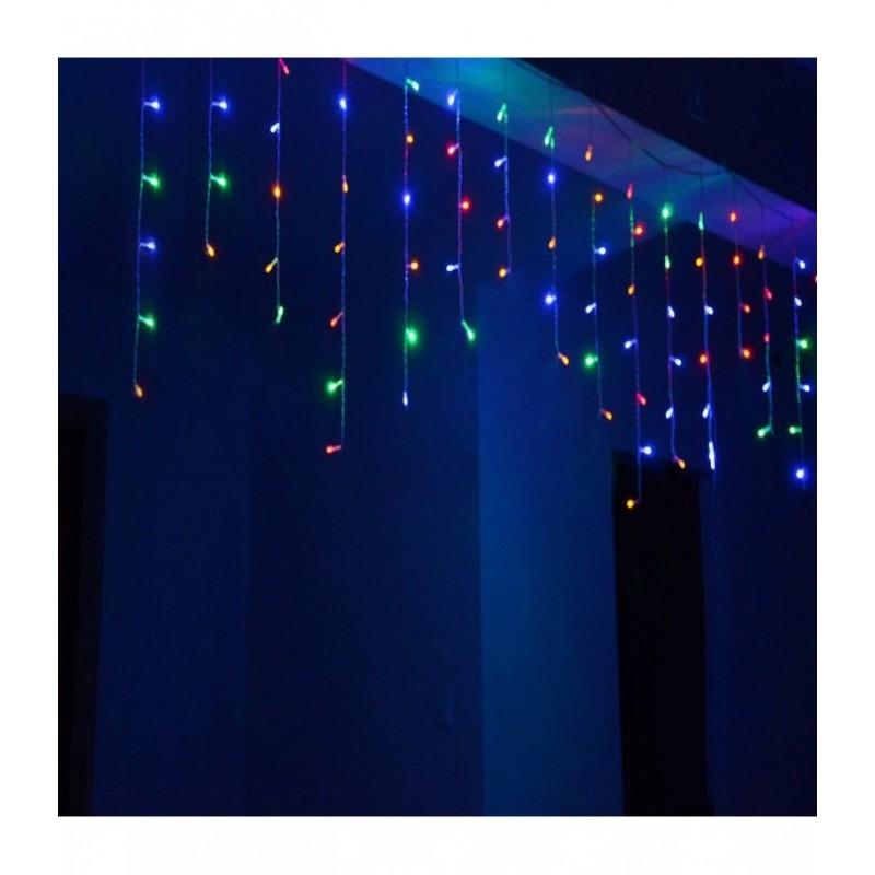 """100 LED kalėdinė girlianda """"Varvekliai"""", 3,2m., įvairiaspalvė"""