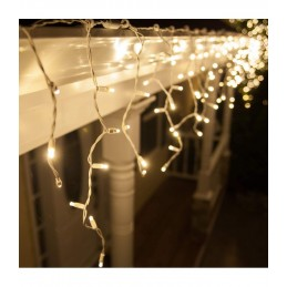 "200 LED Kalėdinė girlianda ""Varvekliai"", ilgis 7,5m., šilta"