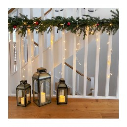 """200 LED Kalėdinė girlianda """"Varvekliai"""", ilgis 7,5m., šilta šviesa"""