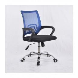 Pasukama biuro kėdė VANGALOO DM8136, juoda su mėlynu atlošu
