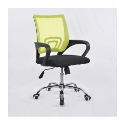 Pasukama biuro kėdė VANGALOO DM8136, juoda su žaliu atlošu