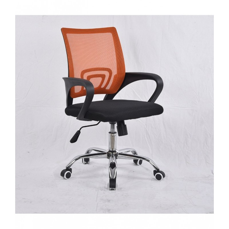 Pasukama biuro kėdė VANGALOO DM8136, juoda su oranžiniu atlošu