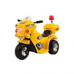 Vaikiškas geltonas motociklas su šoniniais ratukais (WDLQ998)