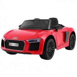 Naujausias licencijuotas raudonas elektromobilis AUDI R8 (WDHL1818)