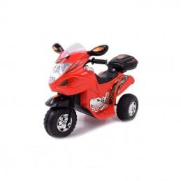 Naujausias vaikiškas raudonas motociklas su akumuliatoriumi