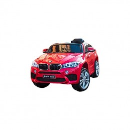 Originalus raudonas elektromobilis BMW X6M 2199 su nuotolinio