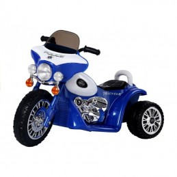 Kokybiškas elektrinis mėlynas triratis POLICE (WDJT568)