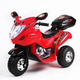 Naujausias vaikiškas raudonas akumuliatorinis motociklas su daiktadėže ST-C051 (WDC051)