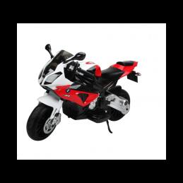 Didelis raudonas elektrinis motociklas BMW S1000RR (WDJT528)