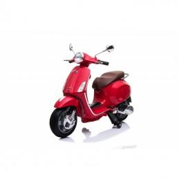 Stilingas elektrinis raudonas motoroleris su šoniniais ratukais