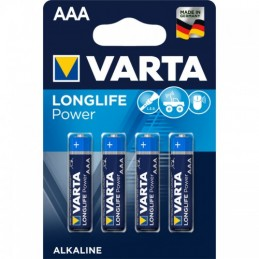Elementas VARTA ALKALINE LONGLIFE POWER (High Energy) LR03 AAA 4vnt.