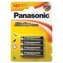 Elementas PANASONIC ALKALINE POWER (Bronzinė) LR03 AAA 4vnt.
