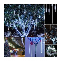 LED girlianda meteorų lietus (50cm), ilgis 3m., šilta šviesa