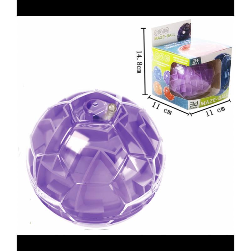 Loginis žaidimas - labirintas kamuolys, violetinis